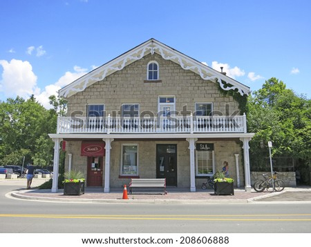 ANCASTER, ONTARIO - JULY 31, 2014:Shop. Ancaster is a picturesque and historic community located on the Niagara Escapement, within the greater area of the city of Hamilton, Ontario, Canada.