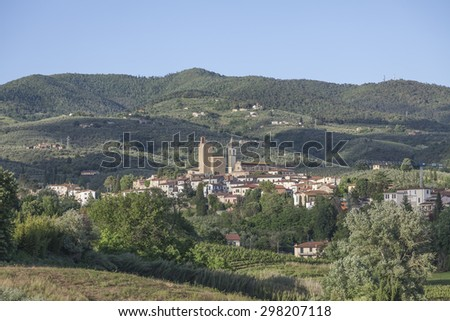 Anchiano town, district of Vinci, Tuscany, Italy, Europe - stock photo