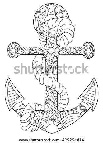 Anti ship stock fotos billeder til fri afbenyttelse og for Coloring pages of anchors