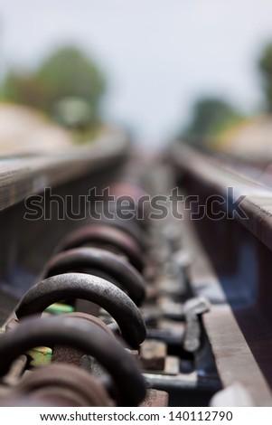 Anchor equipment rails. - stock photo