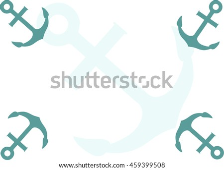 Anchor icon. Silhouette anchor. Anchor isolated on background - stock photo