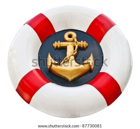 Anchor logo navy - stock photo