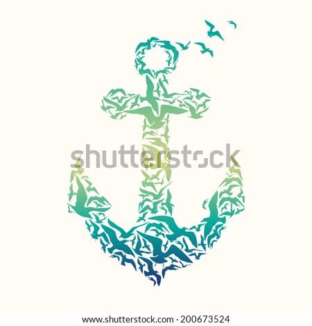 Anchor vector - stock photo