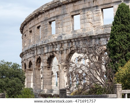 Ancient amfiteatr in Pula, Croatia
