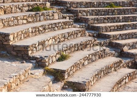 Ancient amphitheater in Ephesus Turkey - archeology background - stock photo