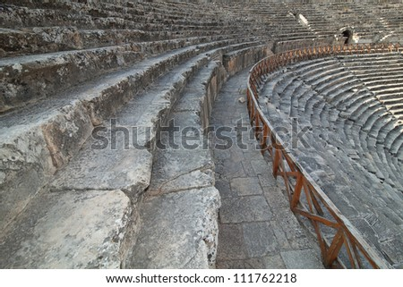 Ancient amphitheater in the Efes.  Turkey - stock photo