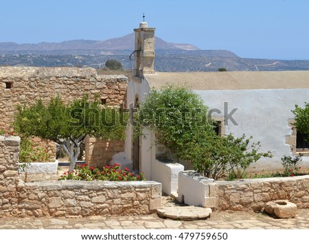 Ancient Aptera Church near to Souda in Crete, Greece