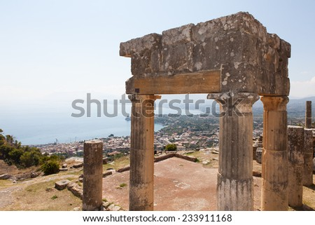ancient archaeological area of Sicily, Solunto, Palermo, - stock photo