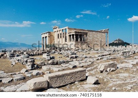 Ancient architecture Acropolis in Athens, Greece