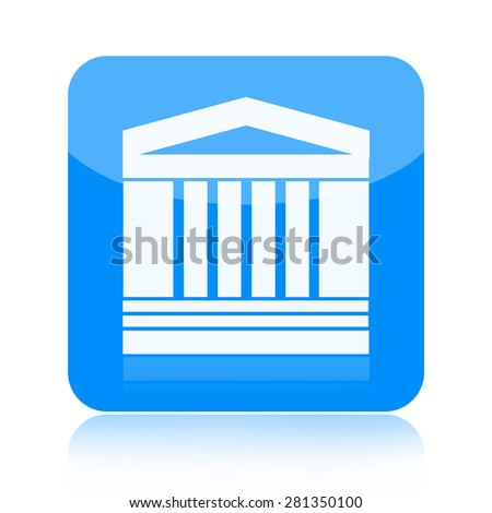 Ancient architecture building icon - stock photo