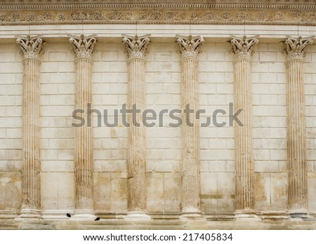 Ancient architecture - Maison Carr�©e, N�®mes - stock photo