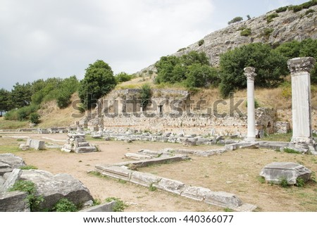 ancient area with columns