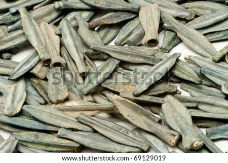 ancient arroheads - stock photo