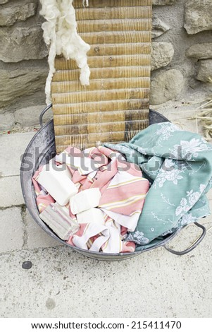 Ancient artisans soaps for washing clothes, objects - stock photo
