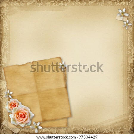 ancient background with roses