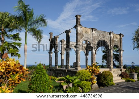 Ancient balinese ruins at Karangasem water palace