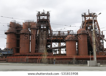 ancient blast furnace in russia