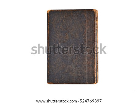 Ancient book cover, isolated on white background