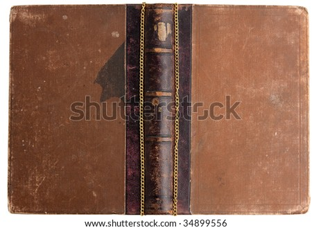 ancient book with pocket watch and compass and   copper coins - stock photo