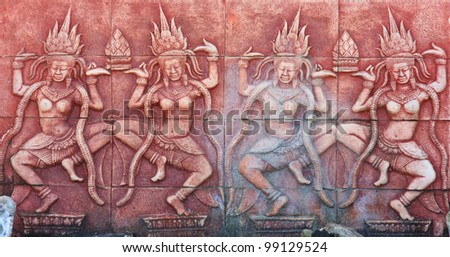 Ancient brick carving background