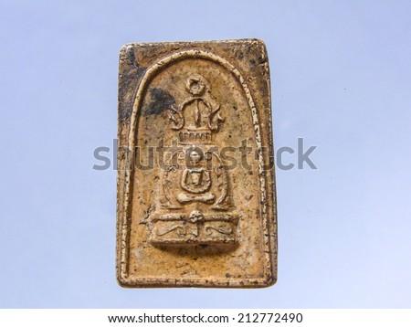 ancient buddha image - stock photo