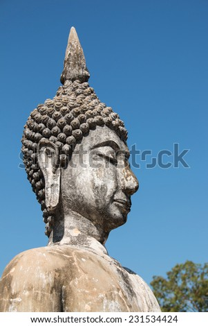 Ancient Buddha Measurements of thailand - stock photo
