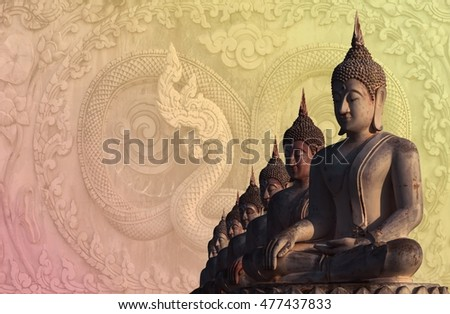 Ancient buddha statue of thailand