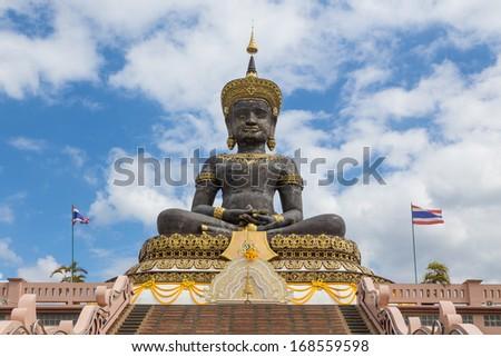 Ancient Buddha, Thailand - stock photo