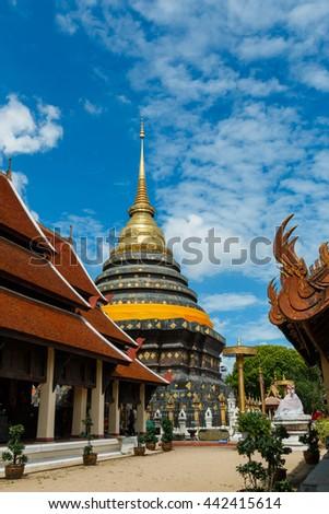 "Ancient Buddhist temple of ""Wat Phra That Lampang Luang""  temple Lampang. - stock photo"