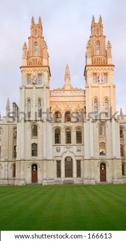 Ancient building in Oxford - stock photo