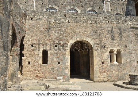 Ancient byzantine church of St Nicholas (the original Santa Claus) from Demre, southern Turkey - stock photo