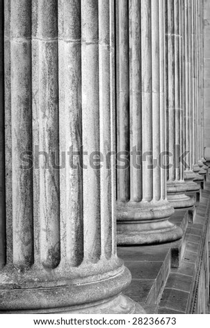 Ancient carved columns abstract