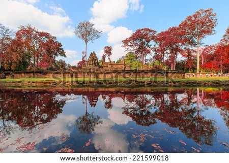 Ancient castle in Angkor Thom, Cambodia.