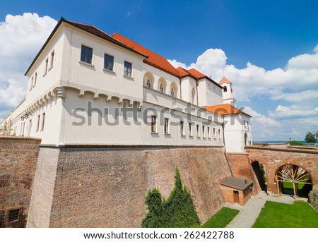 Ancient castle Spilberk located in town of Brno in the Czech Republic - stock photo