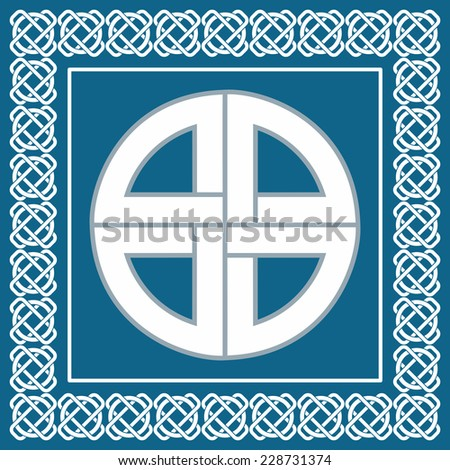 Ancient Celtic knot,symbol of protection used by vikings,scandinavian warriors,illustration for your ethnic  design - stock photo