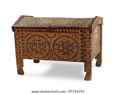 ancient chest - stock photo