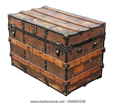 Ancient chest. Clipping path included.