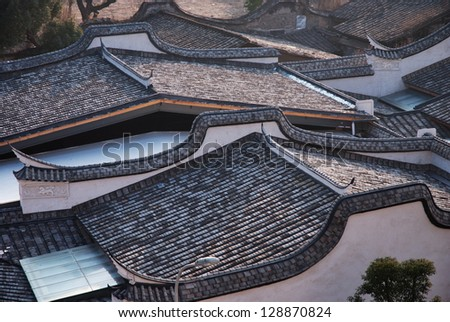 ancient chinese residential - stock photo