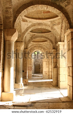ancient church corridor