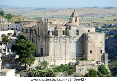 Ancient Church of St. Agostino, Matera, Basilicata, Italy, Europe.