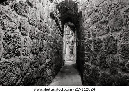 Ancient city Akko in Israel - stock photo
