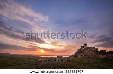 Ancient city at sunset