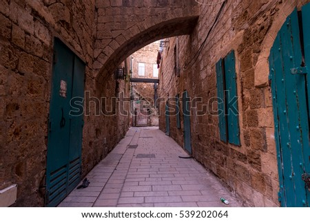 Ancient city of Akko in  Israel