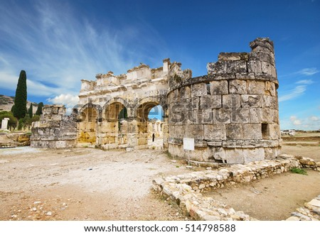 Ancient city of Hierapolis, Pamukkale, Turkey