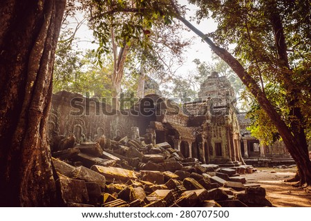 Ancient civilization temple. Beautiful background