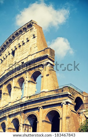 Ancient Colosseum in Rome, Italy