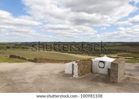 ancient community bread oven, near mertola, alentejo Portugal - stock photo