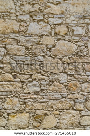 Ancient coquina Stone wall texture or background. Large resolution - stock photo