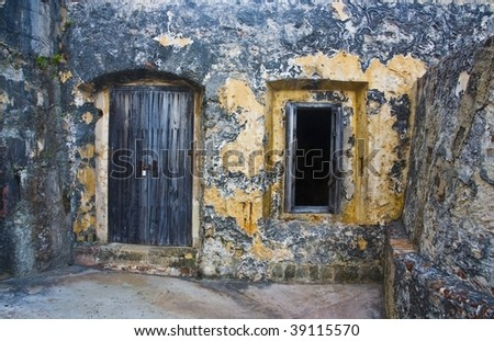 ancient door and window