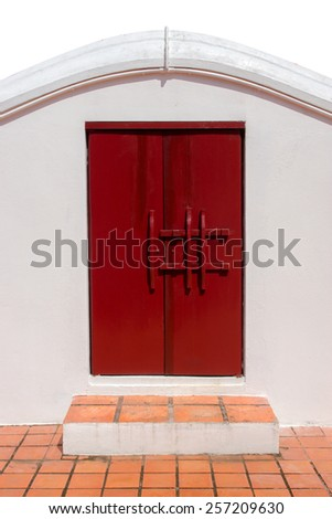 Ancient door in the Chinese style - stock photo